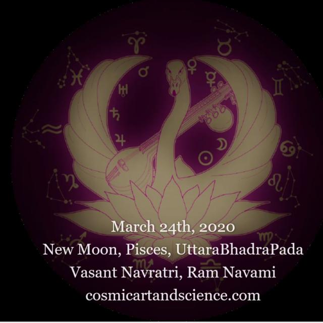 New Moon in Sidereal Pisces, UttaraBhadrapada, Vasant Navratri, Ram Navratri