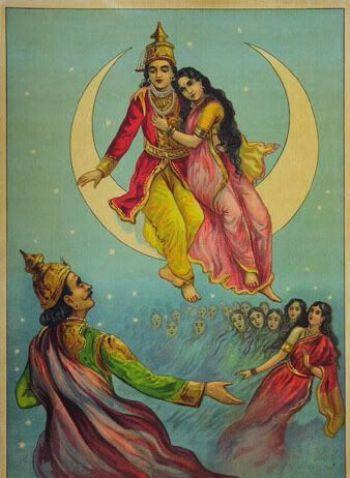 Chandra, Tara and Brihaspati love story
